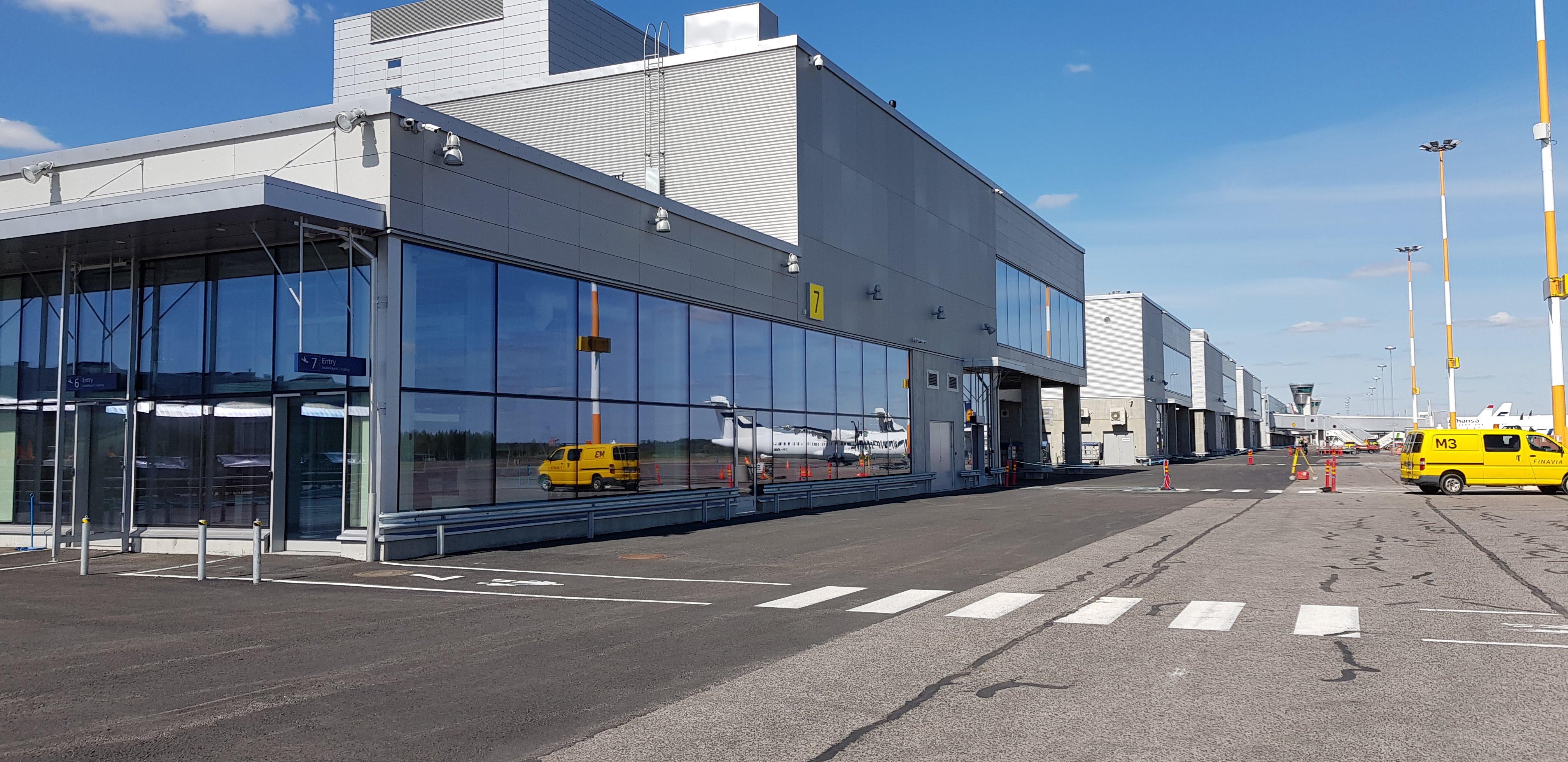 Helsinki-Vantaa T1 terminaalin laajennus, Vantaa